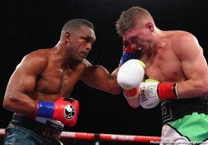 Jason Quigley - Tureano Johnson (22-2-1, 14 KOs) of Nassau,  Bahamas scored a ninth-round stoppage victory against Irish contender Jason Quigley  (16-1, 12 KOs) in the 10-round main event of the July 18 edition of the Golden Boy DAZN Thursday Night Fights at Fantasy Springs Resort Casino in Indio, Calif. The fight was stopped after Quigley's corner advised the referee to call a halt to the fight after the ninth round.