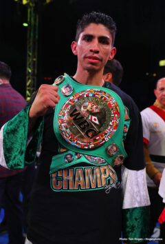 Rey Vargas, Tomoki Kameda - Undefeated super bantamweight champion Rey Vargas (34-0, 22 KOs) protected his unblemished record and extended his title streak with a dominating victory against Tomoki Kameda (36-3, 20 KOs) under the Southern California sky at the Dignity Health Sports Park in Carson, California, and live exclusively on DAZN. Mexico's Vargas overcame the pressure from Japan's Kameda en route to a unanimous decision victory, which marks the fifth successful title defense of his WBC Super Bantamweight Championship. In attendance was Los Angeles' own Danny Roman who owns the IBF and WBA Super Bantamweight belts. Following his impressive performance on DAZN, Vargas called out Roman to face him in the Fall in a huge title unification fight.