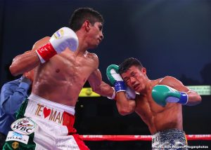 Rey Vargas - Undefeated super bantamweight champion Rey Vargas (34-0, 22 KOs) protected his unblemished record and extended his title streak with a dominating victory against Tomoki Kameda (36-3, 20 KOs) under the Southern California sky at the Dignity Health Sports Park in Carson, California, and live exclusively on DAZN. Mexico's Vargas overcame the pressure from Japan's Kameda en route to a unanimous decision victory, which marks the fifth successful title defense of his WBC Super Bantamweight Championship. In attendance was Los Angeles' own Danny Roman who owns the IBF and WBA Super Bantamweight belts. Following his impressive performance on DAZN, Vargas called out Roman to face him in the Fall in a huge title unification fight.