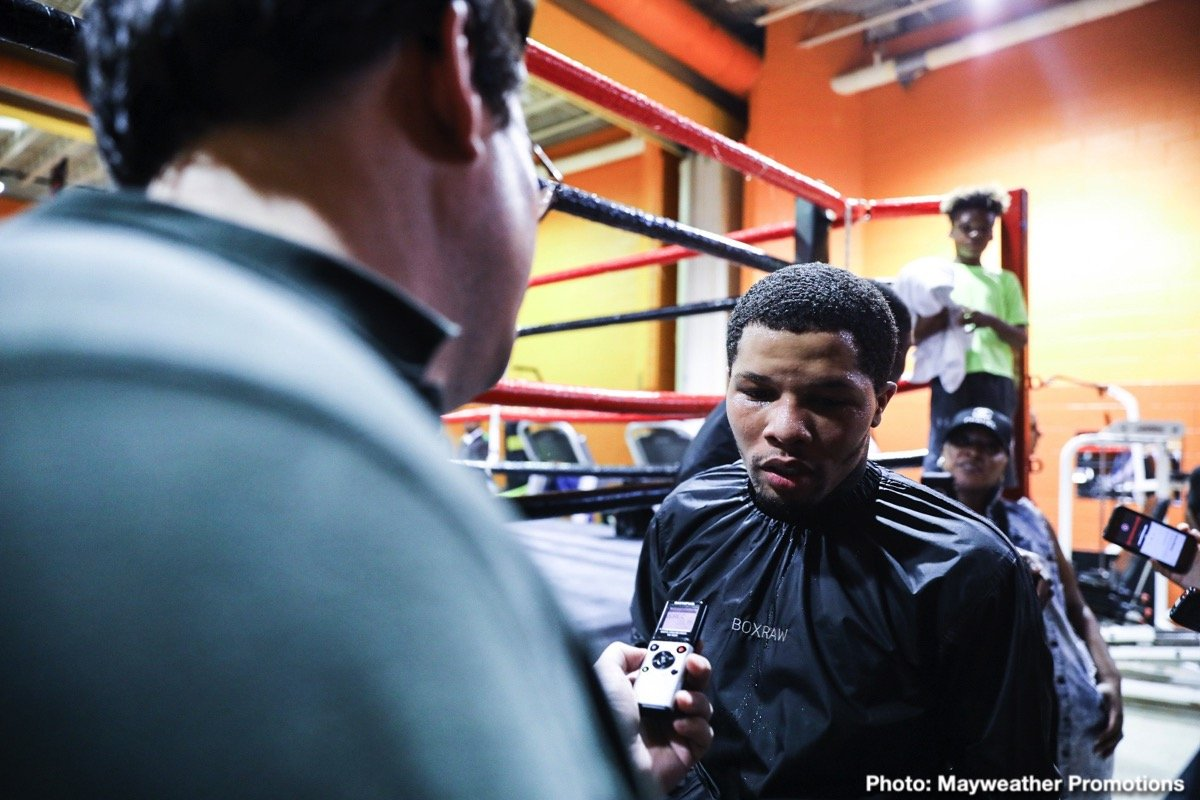 "Gervonta ""Tank"" Davis - Two-time Super Featherweight World Champion Gervonta ""Tank"" Davis participated in an open to the public workout on Thursday evening at his Baltimore training camp where he donated tickets to a local charity for his homecoming title defense against mandatory challenger Ricardo ""Cientifico"" Núñez on Saturday, July 27 live on SHOWTIME from Royal Farms Arena in Baltimore in an event presented by Premier Boxing Champions."