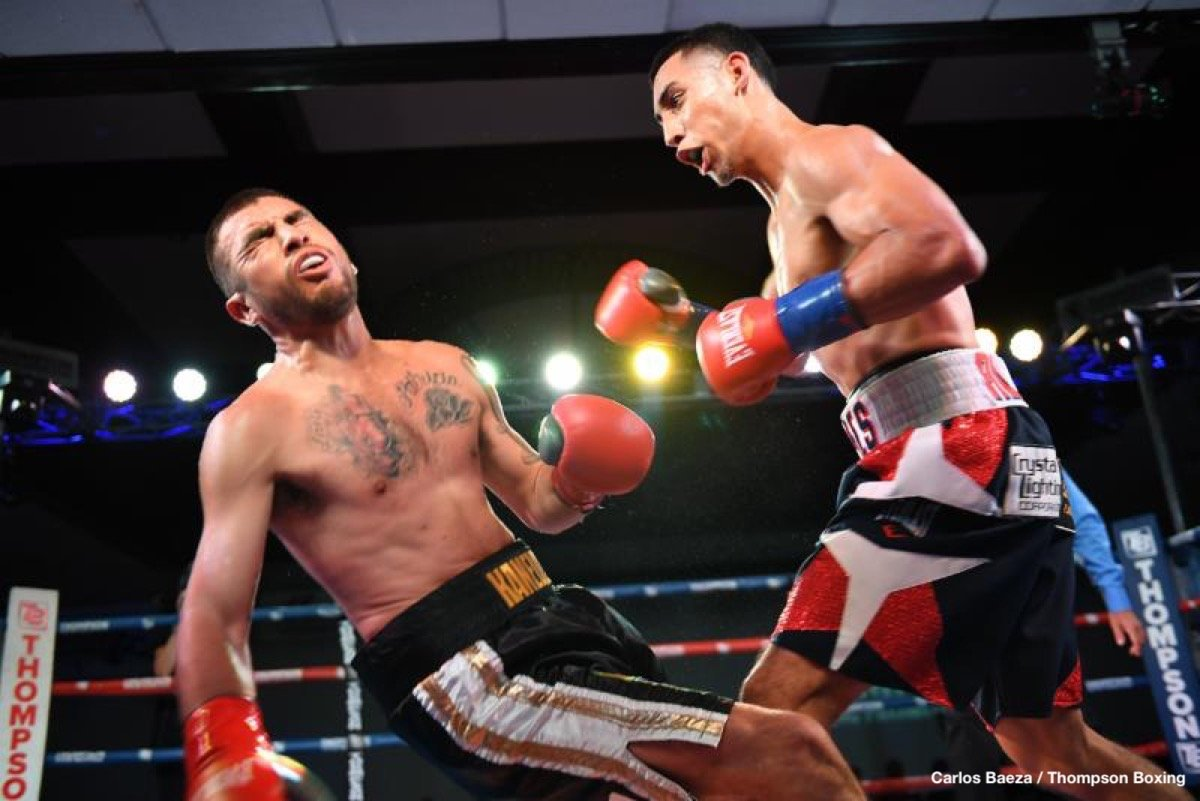 Ruben Torres - Talented lightweight prospect Ruben Torres (10-0, 8 KOs) made a statement in his main event debut by knocking out the battle tested Ruben Tamayo (27-14-4, 18 KOs) at the 2:38 mark of the second round.
