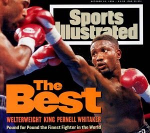 Pernell Whitaker - Throughout his long and distinguished career as arguably the finest defensive fighter in boxing history, the complex bag of tricks Pernell Whitaker had at his disposal befuddled, bemused and frustrated many a great fighter. On this day back in 1990, it was Azumah Nelson's turn to try and solve the puzzle.