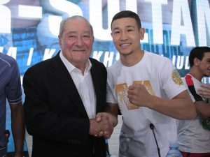 Nordine Oubaali - Boxing legend Bob Arum has vowed that Kazakhstan boxing will go global following this weekend's huge #MTKFightNight event at the Barys Arena in Nur-Sultan – live on ESPN+ in association with Top Rank and on iFL TV.
