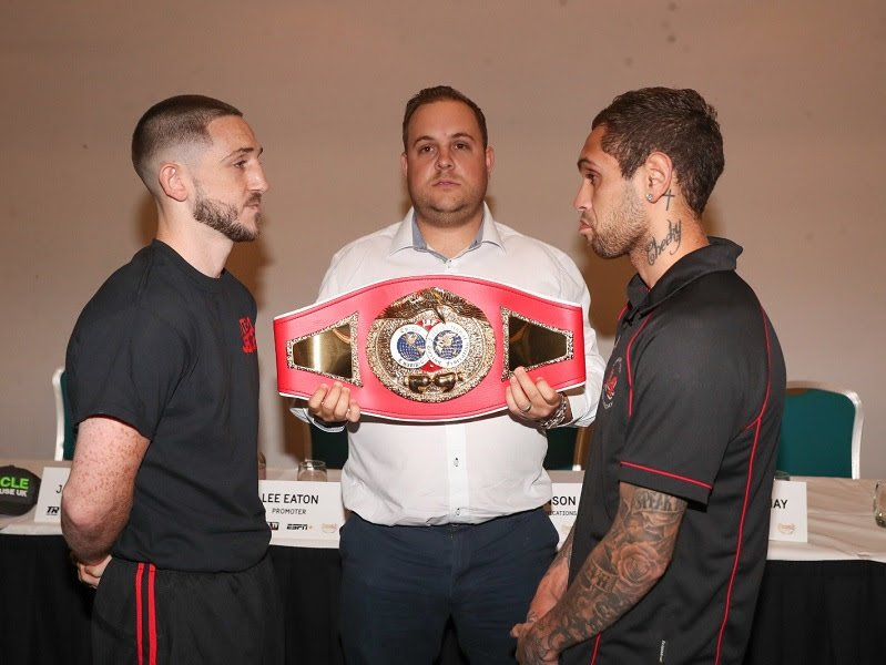Jazza Dickens made it clear to opponent Nathaniel May at today's press conference that they will be going to war when they meet for the vacant IBF European featherweight title on Friday's huge #MTKFightNight show at the Liverpool Olympia.