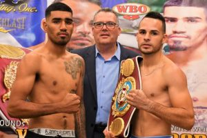 "Yomar Alamo - Photo by Damon Gonzalez/Latinbox Sports - Boxeo Telemundo Ford closes out its summer series with a championship doubleheader, WBO/NABO Champion Yomar ""The Magic"" Alamo(16-0 12 KO's) defends his title 10 rounds against Mexican challenger Salvador Briceño(16-4 10 KO's). Also WBO #3 rated Jeyvier Cintron (10-0 5 KO's) squares off against WBO #2 Koki Eto (24-4-1 19 KO's) 10 rounds for a mandatory position to face newly crowned WBO Champion Kazuto Ioka."