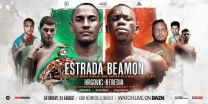 Juan Francisco Estrada - WBC super flyweight belt holder Juan Francisco Estrada (40-3, 27 KOs) had a tougher time than expected in beating #14 WBC contender Dewayne Beamon (16-2-1, 11 KOs) by a ninth round knockout on Saturday night at the Centro de Usos Múltiples in Hermosillo, Mexico. The fight was stopped at 0:51 of round 9.