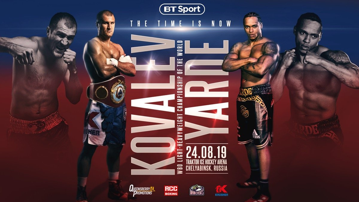 WBO light heavyweight champion Sergey Kovalev (34-3-1, 29 KOs) came on late to score an 11th round knockout victory over previously unbeaten challenger Anthony Yarde (18-1, 17 KOs) in front of a large crowd on Saturday night at the Traktor Sport Palace in Chelyabinsk, Russia.