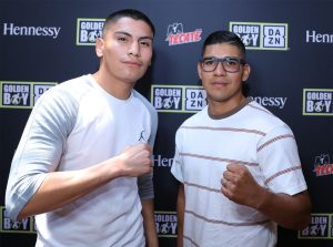 """Vergil Ortiz Jr. - Rising knockout artist Vergil Ortiz Jr. (13-0, 13 KOs) and former world title challenger Antonio """"Relentless"""" Orozco (28-1, 17 KOs) hosted a Los Angeles media roundtable at El Cholo Restaurant today to discuss their upcoming fight for the WBA Gold Welterweight Title. The fight will take place on Saturday, Aug. 10 at The Theatre at Grand Prairie in Texas and will be streamed live on DAZN."""