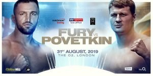 Hughie Fury - The last thing the sport needs is for yet another big name fighter to test positive for an illegal substance (or two). With that in mind, heavyweights Alexander Povetkin and Hughie Fury have signed on to be tested by VADA both before and after their August 31st fight set for The O2 in London as chief support to the headline fight between Vasyl Lomachenko and Luke Campbell.