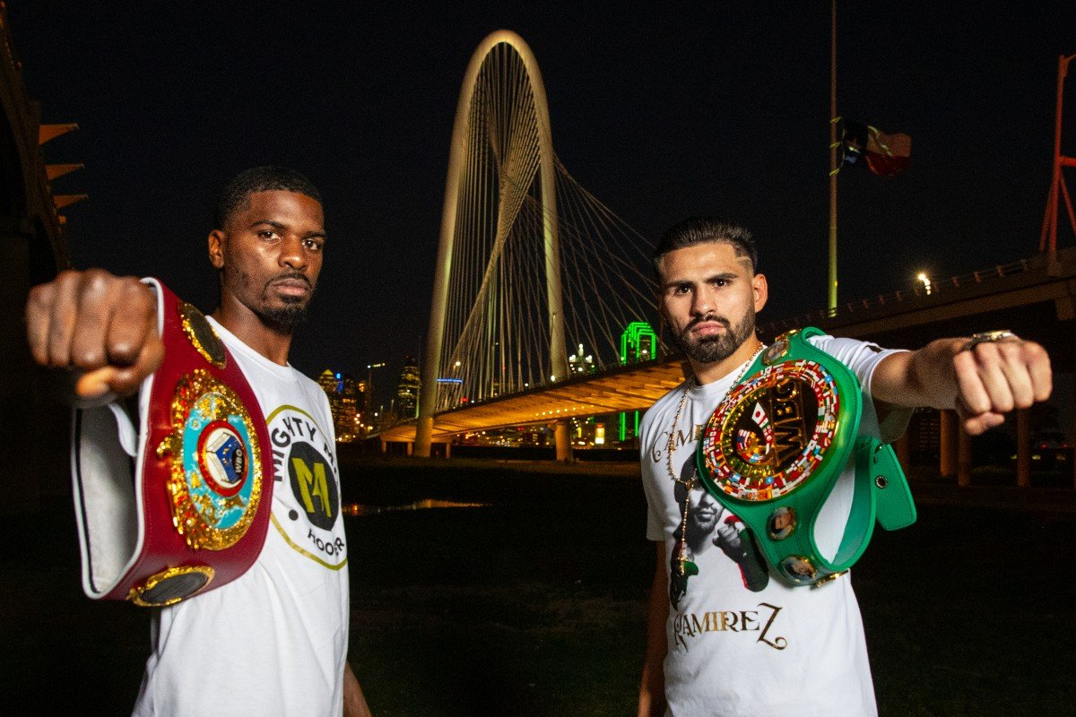 DAZN, Guillaume Frenois, Jose Ramirez, Maurice Hooker, Tevin Farmer - Jose Ramirez believes all the pressure is on hometown favorite Maurice Hooker as they clash for the WBO and WBC World Super-Lightweight titles at College Park Center in Arlington, Texas on Saturday night, live on DAZN in the US and on Sky Sports in the UK.