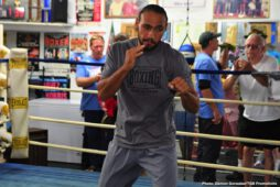 """John Molina jr., Keith Thurman, Luis Nery, Manny Pacquiao, Omar Figueroa Jr., Sergey Lipinets, Yordenis Ugas - Undefeated WBA Welterweight World Champion Keith """"One Time"""" Thurman hosted media at the St. Pete Boxing Club in Florida Wednesday as he showed off his skills in advance of his Saturday, July 20 showdown against eight-division world boxing champion Senator Manny """"PacMan"""" Pacquiao headlining a Premier Boxing Champions on FOX Sports Pay-Per-View event from the MGM Grand Garden Arena in Las Vegas."""