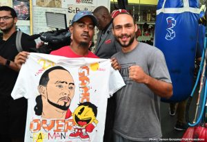 "Omar Figueroa Jr. - Undefeated WBA Welterweight World Champion Keith ""One Time"" Thurman hosted media at the St. Pete Boxing Club in Florida Wednesday as he showed off his skills in advance of his Saturday, July 20 showdown against eight-division world boxing champion Senator Manny ""PacMan"" Pacquiao headlining a Premier Boxing Champions on FOX Sports Pay-Per-View event from the MGM Grand Garden Arena in Las Vegas."