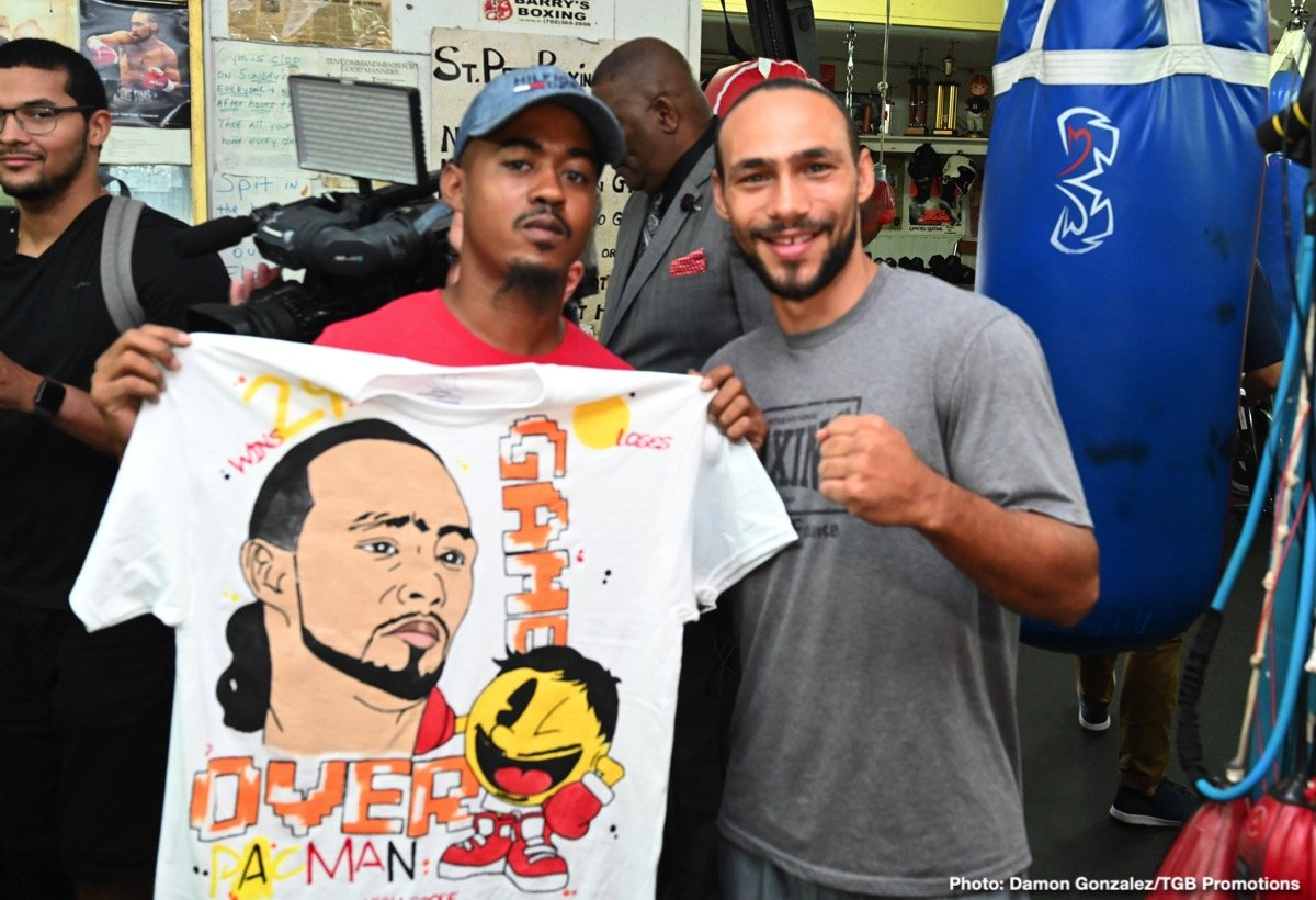 """Luis Nery - Undefeated WBA Welterweight World Champion Keith """"One Time"""" Thurman hosted media at the St. Pete Boxing Club in Florida Wednesday as he showed off his skills in advance of his Saturday, July 20 showdown against eight-division world boxing champion Senator Manny """"PacMan"""" Pacquiao headlining a Premier Boxing Champions on FOX Sports Pay-Per-View event from the MGM Grand Garden Arena in Las Vegas."""