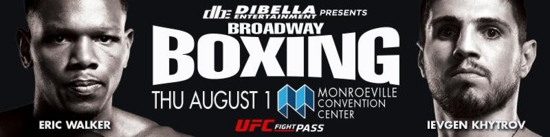 """Eric """"The Baby Faced Assassin"""" Walker - Former Middleweight World Champion Kelly """"The Ghost"""" Pavlik will make his debut as a ringside commentator this Thursday night, August 1, as DiBella Entertainment presents a special edition of Broadway Boxing: Night of the Contenders from the Monroeville Convention Center, just outside of Pittsburgh, PA. The event will be live streamed exclusively on UFC FIGHT PASS®, the world's leading digital subscription service for combat sports, beginning at 8:30 p.m. ET/5:30 p.m. PT."""