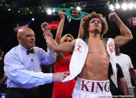 """Blair Cobbs, Luis Feliciano - Undefeated Puerto Rican prospect Luis Feliciano (13-0, 8 KOs) scored a 10-round unanimous decision victory against Genaro """"El Conde"""" Gamez (9-1, 6 KOs) to capture the NABF Super Lightweight Title in the main event of the Aug. 22 edition Golden Boy DAZN Thursday Night Fights at Fantasy Springs Resort Casino in Indio, Calif. The fights were streamed live on RingTV.com and on Facebook Watch via the Golden Boy Fight Night Page. The series is also available on regional sports networks around the nation."""