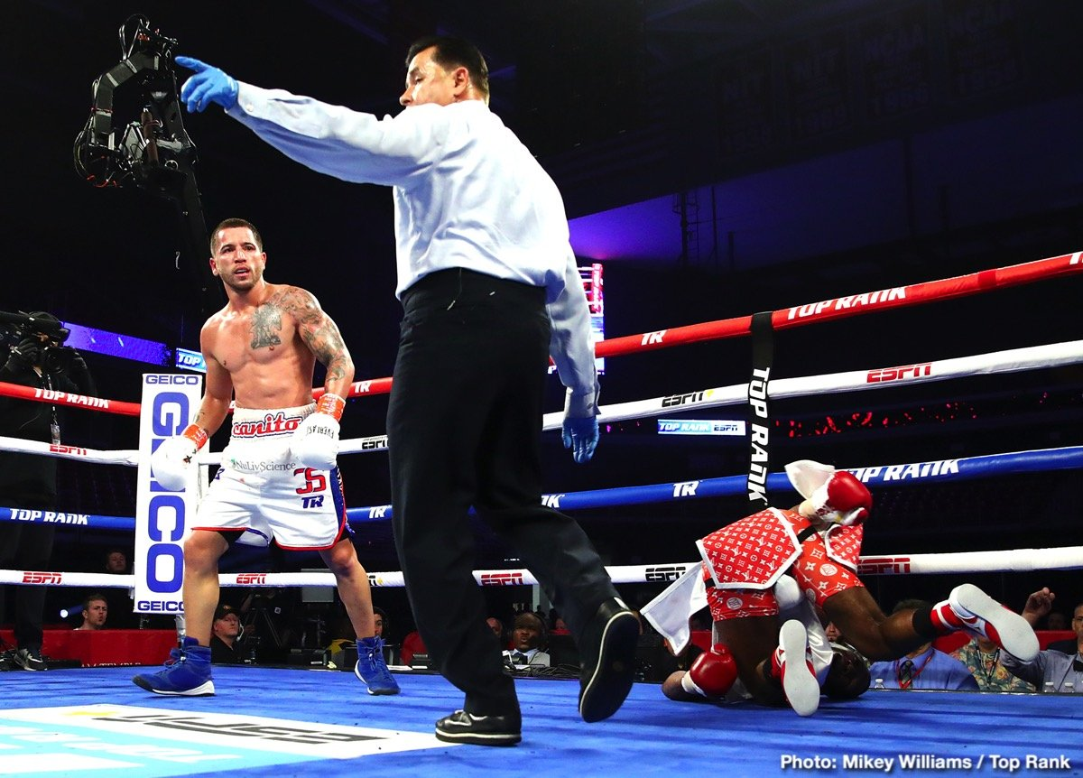 Robeisy Ramirez - The road back to a world title just got clearer for Jason Sosa. The Camden, New Jersey native and former super featherweight world champion stopped Lydell Rhodes in seven rounds to win his third in a row in front of 1,723 fans at the Liacouras Center.