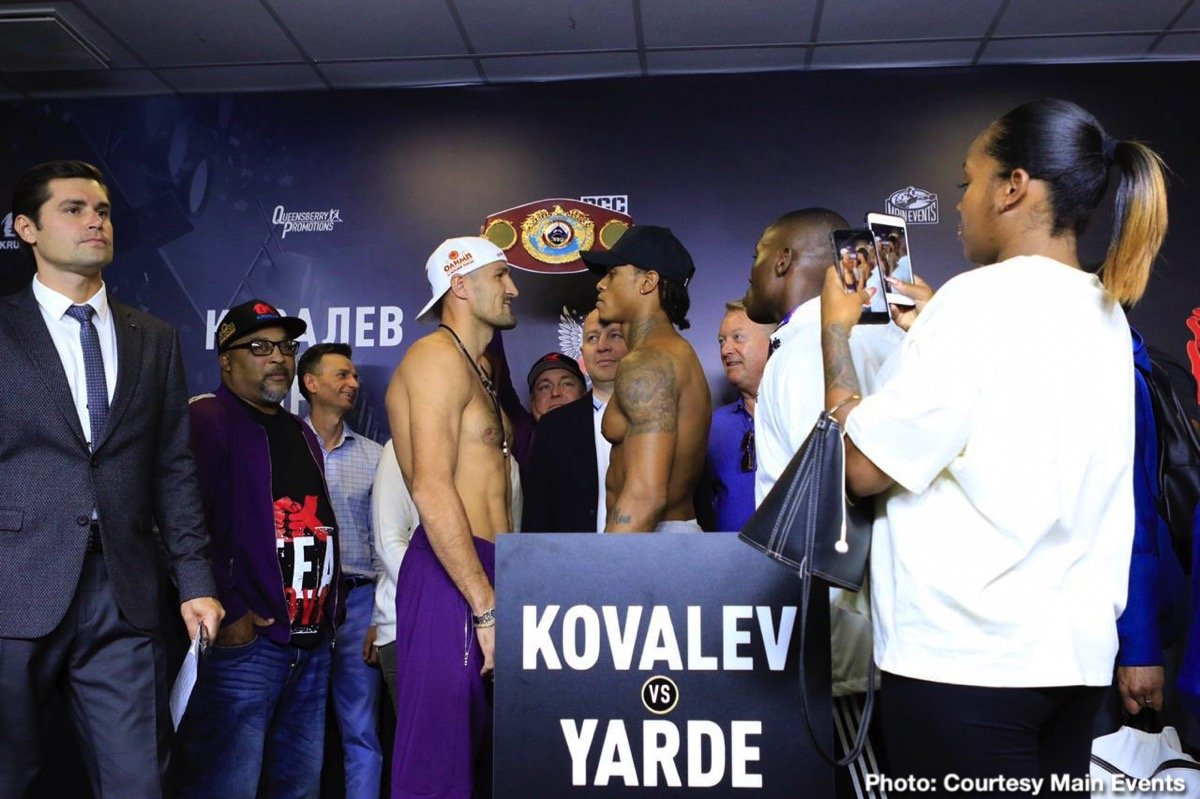 Sergey Kovalev 174.6 vs. Anthony Yarde 173.9