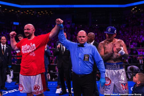 Adam Kownacki, Chris Arreola, Curtis Stevens, Jean Pascal, Marcus Browne, Wale Omotoso - Heavyweights Adam Kownacki and Chris Arreola went to war on Saturday night in a that smashed the CompuBox record for most punches landed. It was a real fun fight to watch, Kownacki (20-0, 15 KOs) defeated a surprisingly fresh 38-year-old Arreola (38-6-1, 33 KOs) by a 12 round unanimous decision on Premier Boxing Champions on Fox at the Barclays Center in Brooklyn, New York. The scores were 118-110, 117-111, and 117-111.