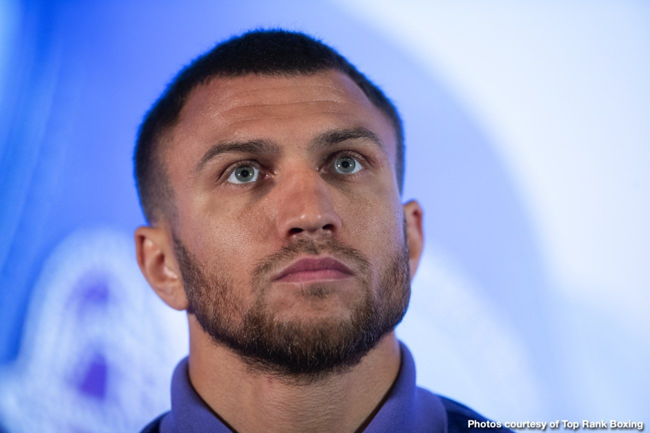 Vasyl Lomachenko - Originally scheduled for May 30, then postponed (due to you know what), the intriguing and potentially explosive 135 pound unification showdown between Vasyl Lomachenko and Teofimo Lopez will now perhaps go ahead on October 3rd in Las Vegas. Steve Kim of ESPN.com spoke with Top Rank's Todd duBoef yesterday and this is now the target date for the fight; one of the biggest fights of this year.
