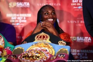Savannah Marshall - Savannah Marshall is characteristically cool when summing up her face-to-face meeting with rival Claressa Shields.