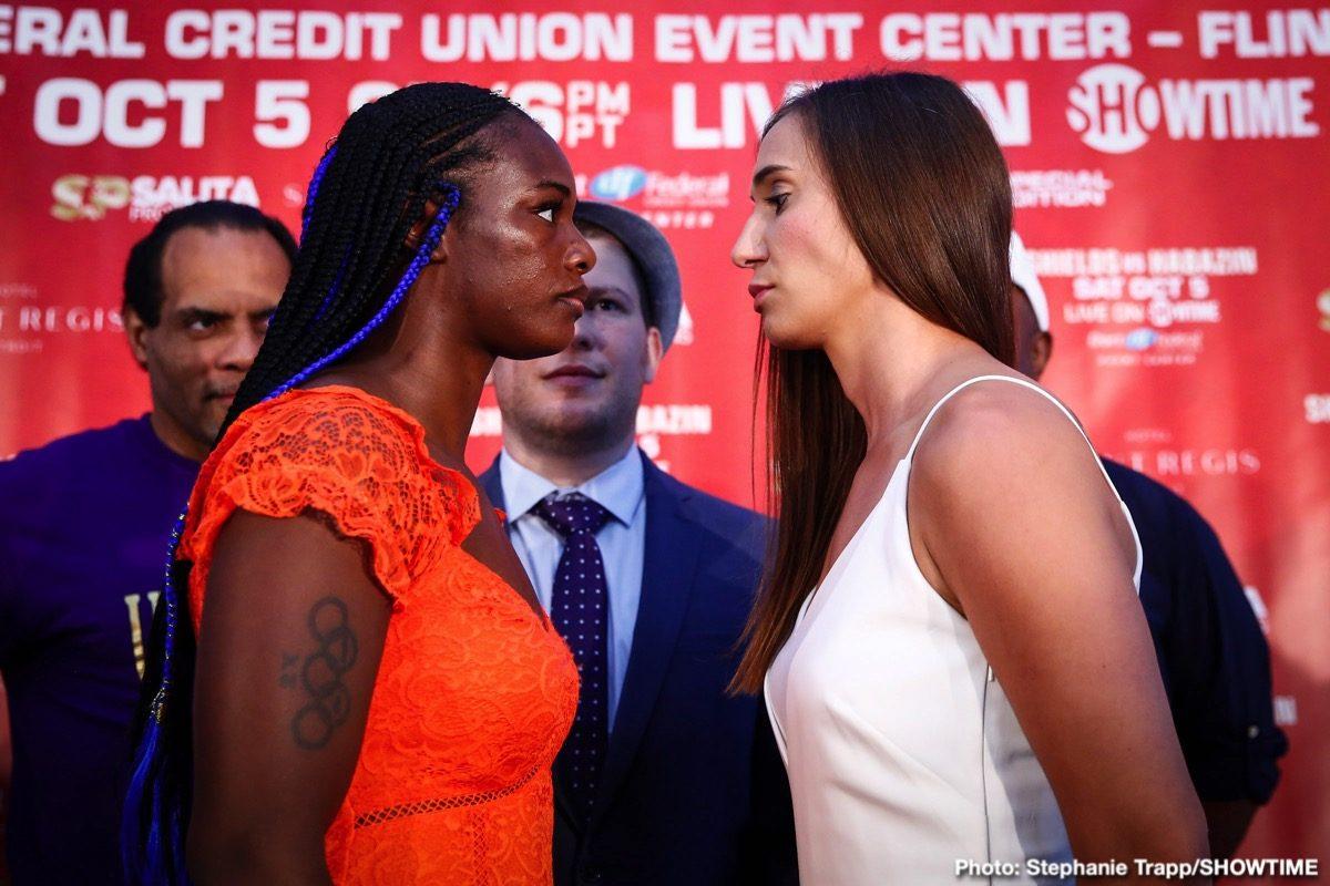 Claressa Shields Ivana Habazin Boxing Interviews Press Room