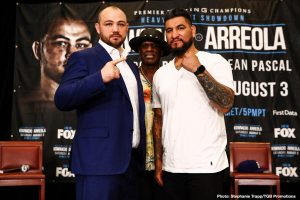 """Curtis Stevens - Unbeaten Polish star Adam Kownacki and former title challenger Chris """"The Nightmare"""" Arreola went face to face at Thursday's final press conference, two days before they meet in a heavyweight showdown headlining FOX PBC Fight Night this Saturday live on FOX and FOX Deportes from Barclays Center, the home of BROOKLYN BOXING™."""