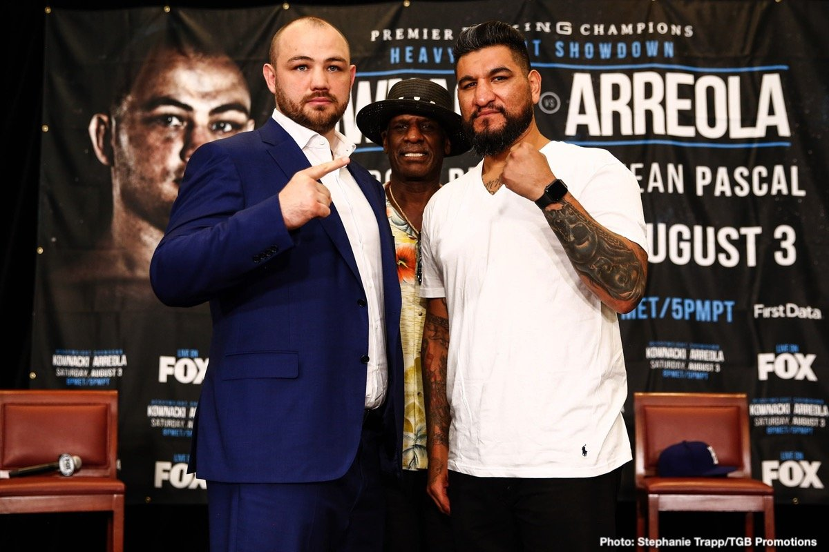 "Marcus Browne - Unbeaten Polish star Adam Kownacki and former title challenger Chris ""The Nightmare"" Arreola went face to face at Thursday's final press conference, two days before they meet in a heavyweight showdown headlining FOX PBC Fight Night this Saturday live on FOX and FOX Deportes from Barclays Center, the home of BROOKLYN BOXING™."
