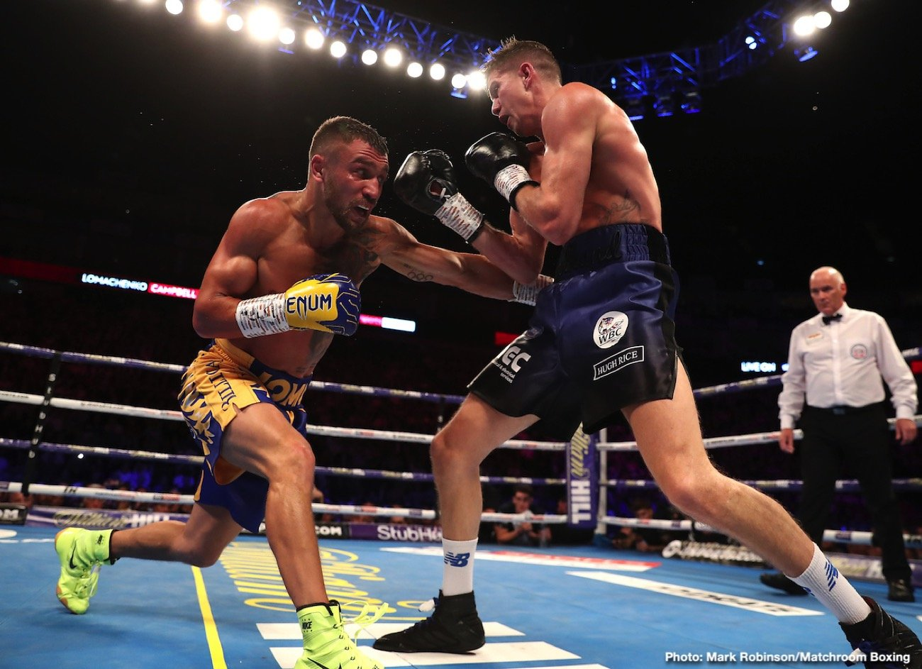 Devin Haney, Vasiliy Lomachenko, WBC - WBA/WBC/WBO lightweight champion Vasiliy Lomachenko is poised to be the World Boxing Council's next Franchise champion. Interim WBC champion Devin Haney is saying that he believes that the 31-year-old Lomachenko (14-1, 10 KOs) will be given the WBC Franchise tag. When that happens, Haney says he'll likely be moved up to WBC 'regular' lightweight champion status.