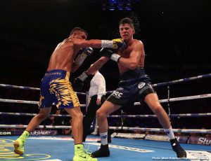 Hughie Fury - Vasiliy Lomachenko (14-1, 10 KOs) won the vacant WBC lightweight title on Saturday night with a 12 round unanimous decision over Luke Campbell (20-3, 16 KOs) on ESPN+ at the O2 Arena in London, England.