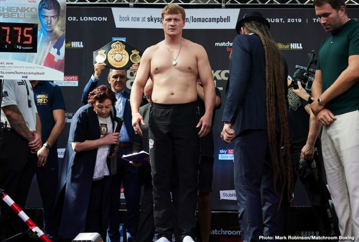 Alexander Povetkin Hughie Fury Boxing News British Boxing