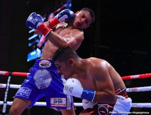 Vergil Ortiz - In an exciting war, undefeated Virgil Ortiz Jr. (14-0, 14 KOs) overwhelmed the more experienced Antonio Orozco (28-2, 17 KOs) in stopping the 31-year-old in the sixth round on Saturday night to win the WBA gold welterweight strap on DAZN at the Verizon Theatre in Grand Prairie, Texas.