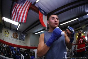 """Antonio Orozco - Vergil Ortiz Jr. (13-0, 13 KOs) and Antonio """"Relentless"""" Orozco (28-1, 17 KOs) hosted a media workout today at the Irving Police Athletic League in Irving, Texas ahead of their 12-round battle. Their battle will take place on Saturday, Aug. 10 at The Theatre at Grand Prairie in Texas and will be streamed live on DAZN."""