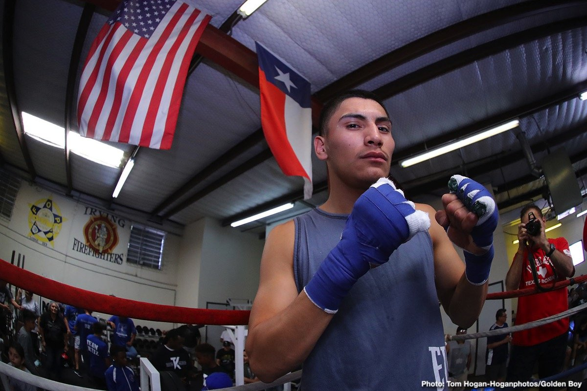 "Antonio Orozco - Vergil Ortiz Jr. (13-0, 13 KOs) and Antonio ""Relentless"" Orozco (28-1, 17 KOs) hosted a media workout today at the Irving Police Athletic League in Irving, Texas ahead of their 12-round battle. Their battle will take place on Saturday, Aug. 10 at The Theatre at Grand Prairie in Texas and will be streamed live on DAZN."