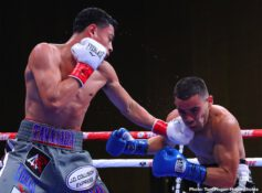 "Antonio Orozco, Joshua Franco, Oscar Negrete, Vergil Ortiz - Knockout artist Vergil Ortiz Jr. (14-0, 14 KOs) defeated Antonio ""Relentless"" Orozco (28-2, 17 KOs) in the sixth round of their 12-round fight for the WBA Gold Welterweight Title. The event took place on Saturday, Aug. 10 at The Theatre at Grand Prairie in Texas and was streamed live on DAZN. Ortiz stopped Orozco at 2:16 of the aforementioned round."