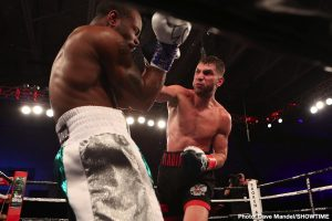 Vladimir Tikhonov - Undefeated super middleweight prospect Vladimir Shishkin shined in his United States and ShoBox: The New Generation debut registering an eighth-round technical knockout against DeAndre Ware Friday night from the Central Park Community Center in the Rose District of Broken Arrow.