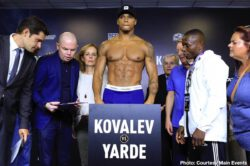Anthony Yarde, Sergey Kovalev - Sergey Kovalev 174.6 vs. Anthony Yarde 173.9