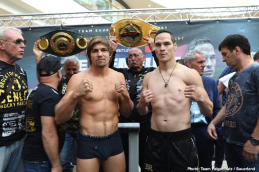 Cesar Nunez, Vincent Feigenbutz - Vincent Feigenbutz (31-2, 28 KOs) claimed the IBO International Super Middleweight title with an emphatic eight round TKO victory over the brave Cesar Nunez (16-1-1, 8 KOs) at the Friedrich-Ebert-Halle in Ludwigshafen, Germany.