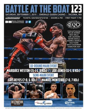 Cris Reyes, Marquice Weston - Rising stars Marquice Weston and Cris Reyes will both face their toughest challenges to date when they step back inside the ring.