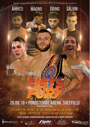 Tommy Frank - TOMMY MOVES DOWN IN WEIGHT FOR IBO TITLE SHOT