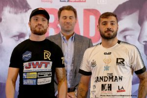 "Lewis Ritson - Eddie Hearn: ""We are so pleased to be back here in Newcastle, this is a massive card and an official Eliminator for the WBA  Super-Lightweight World title between Robbie Davies Jr and Lewis Ritson. This is a massive opportunity for both men."