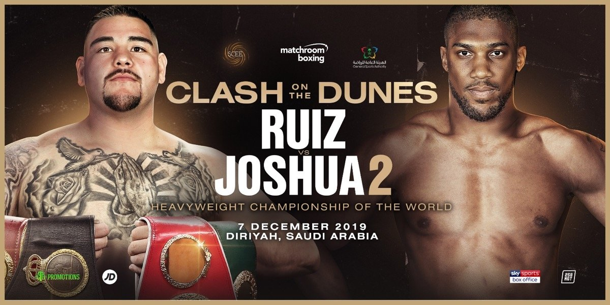 Andy Ruiz - WBC heavyweight champion Deontay Wilder has seen the miraculous physical transformation that Andy Ruiz Jr. has done in losing gads amount of weight in training for his December 7th rematch with Anthony Joshua (22-1, 21 KOs), and he thinks he's going to beat him again.