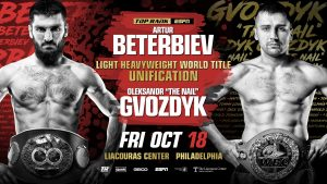 Artur Beterbiev, Oleksandr Gvozdyk - As Russia and Ukraine dominate the news, both countries have become inextricably linked to the current impeachment inquiry in Washington DC. Up the road in Philadelphia, two world champion boxers--one Russian, one Ukrainian--are preparing to meet in a light-heavyweight unification bout.