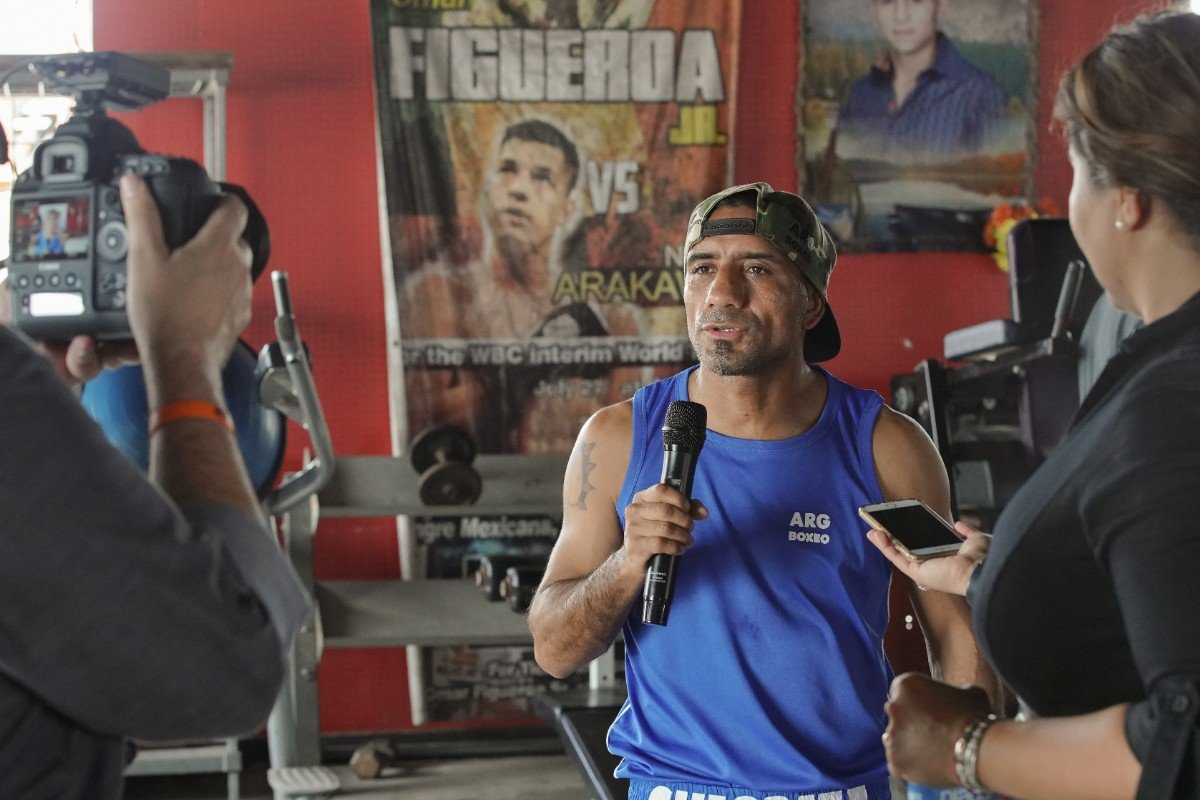 Argentina's Javier Nicolas Chacon took part in a media workout Tuesday in Weslaco, Texas as he nears his showdown against unbeaten interim WBA Super Bantamweight Champion Brandon Figueroa that headlines FS1 PBC Fight Night and on FOX Deportes this Saturday night from Bert Ogden Arena in Edinburg, Texas.