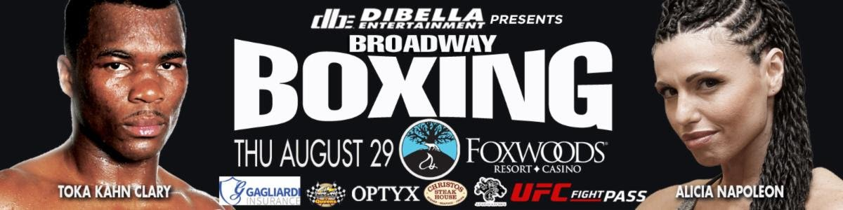 "Alicia Napoleon-Espinosa - Former Women's World Champion Kali ""KO Mequinonoag"" Reis (15-7-1, 5 KOs), of Providence, RI, will return to battle this Thursday night, August 29, against Patricia Juarez, of Denver, CO, in a welterweight clash featured on DiBella Entertainment's stacked Broadway Boxing card from Foxwoods Resort Casino, in Mashantucket, CT. The event will be live streamed exclusively on UFC FIGHT PASS®, the world's leading digital subscription service for combat sports,starting at 9:00pm ET/6:00pm PT. Reis vs. Juarez will be one of three women's bouts presented on the 109th installment of the long-running Broadway Boxing series."