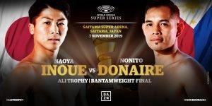 Naoya Inoue, Nonito Donaire - Japan's 'Monster' Naoya Inoue (18-0, 16 KOs) and legendary Filipino-American Nonito 'The Filipino Flash' Donaire (40-5, 26 KOs) clash for the 118lb Ali Trophy at the Saitama Super Arena in Saitama, Japan on November 7.