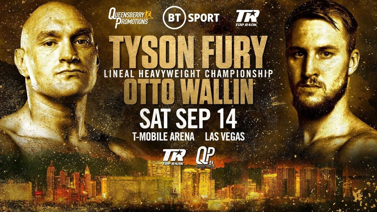Otto Wallin - Eddie Hearn isn't the only person who is amazed, stunned, aghast at how this Saturday night's fight between Tyson Fury and largely unknown Swedish heavy Otto Wallin is a pay-per-view offering (£19.95 for UK fans, the fight, a mis-match in the eyes of many, available on BT Sport). In fact, who, if anyone, really, honestly believes this fight is worthy of a Box-Office fee?