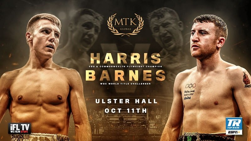 Paddy Barnes - MTK Global is delighted to announce a return to the Ulster Hall in Belfast for a huge #MTKFightNight featuring a high-stakes flyweight showdown between Jay Harris and three-time Irish Olympian Paddy Barnes.