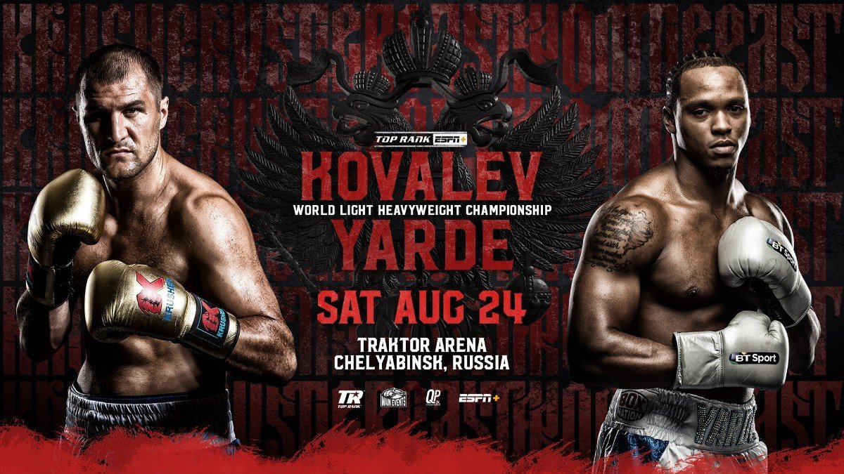 ANTHONY YARDE will take on WBO World Light Heavyweight Champion Sergey Kovalev on Saturday night in Chelyabinsk, Russia live on BT Sport 2.