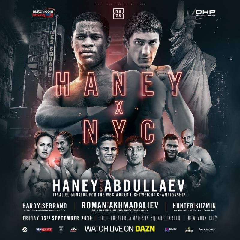 Danny Roman - WBA and IBF World Super-Bantamweight champion Danny Roman takes on lethal WBA mandatory challenger Murodjon Akhmadaliev on Friday, Sept. 13 from the Hulu Theater in Madison Square Garden, New York, live on DAZN in the U.S. and on Sky Sports in the UK.