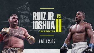 Andy Ruiz, Anthony Joshua - Anthony Joshua believes that he's going to beat Andy Ruiz Jr. to take back his IBF, WBA & WBO heavyweight titles, and then he'll be seen as the #1 fighter in the division. That's Joshua's vision for his December 7th rematch against Ruiz Jr. (33-1, 22 KOs) in Saudi Arabia.